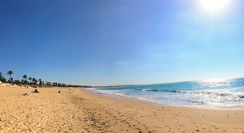 Playa de la Barrosa in Spanien