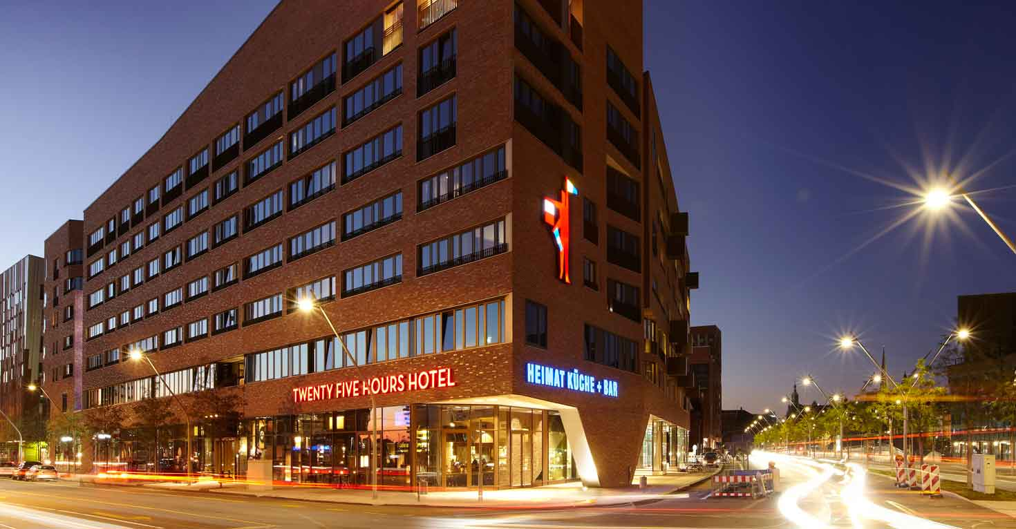 Das Hotel 25h Hafencity in Hamburg