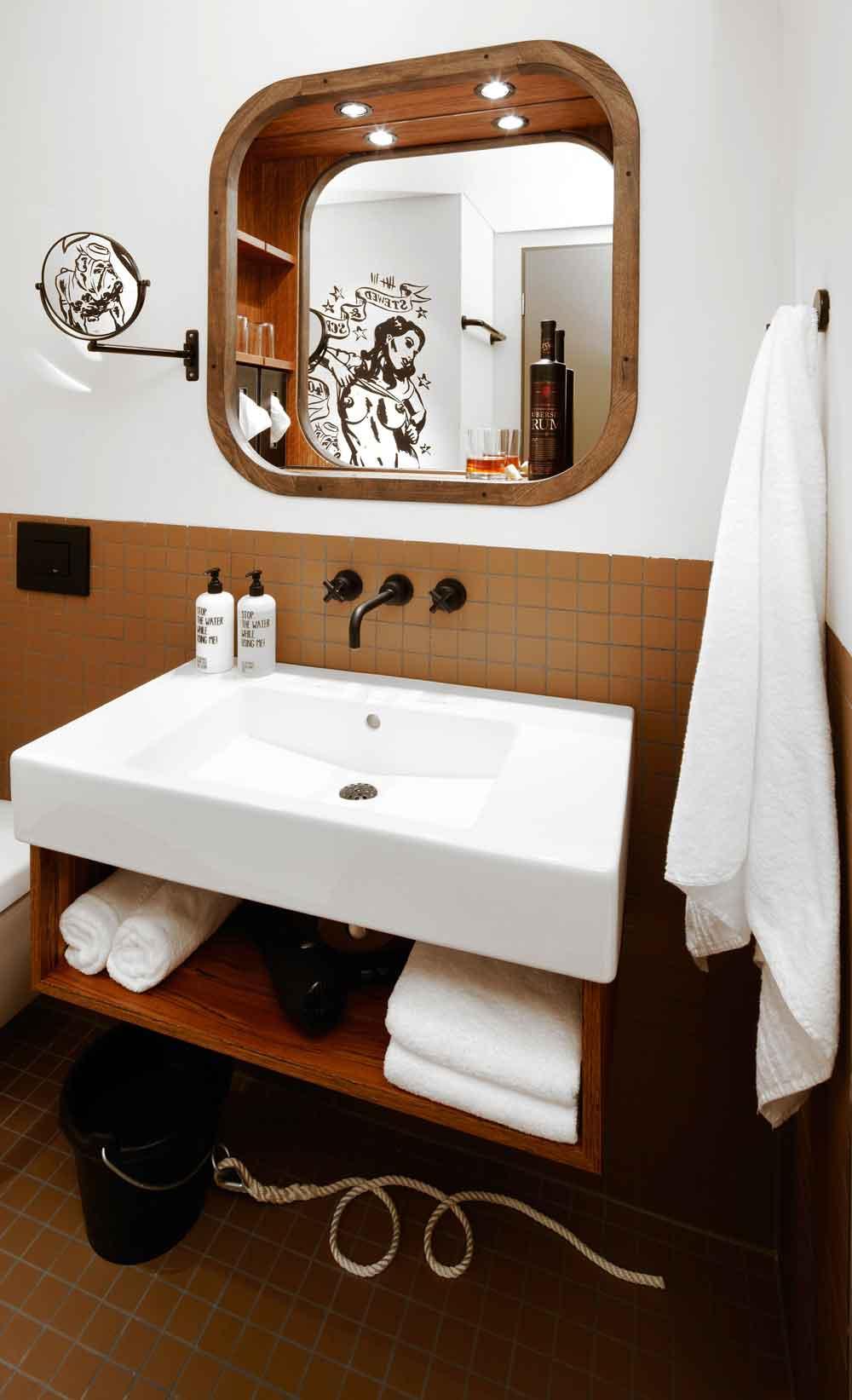 Das Bad im 25h Hotel
