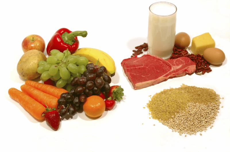 Die empfohlene Relation der Ernährung
