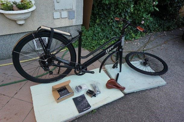 Einfach und schnell zusammengebaut - das Geero E-Bike