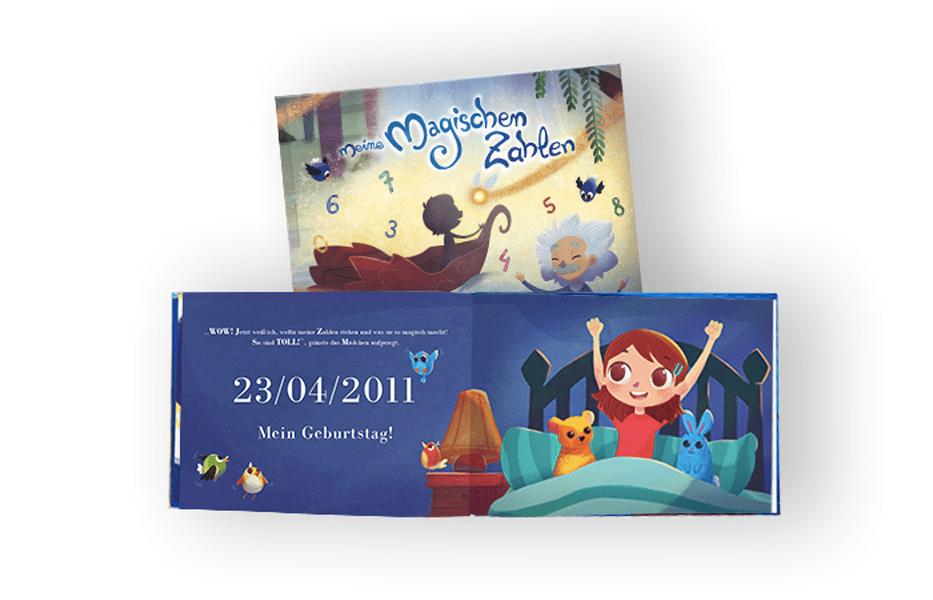 Personalisierbares Kinderbuch rund um Lebenszahlen
