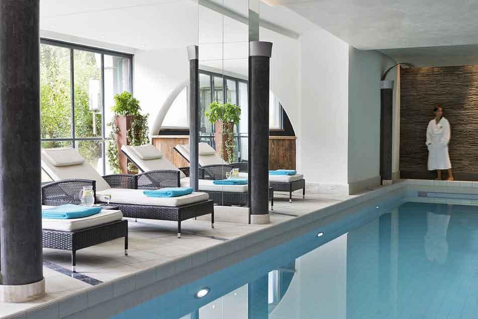 Der Pool im Hotel Lärchenhof