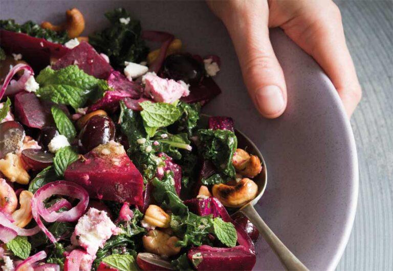 Rezept: Rote-Bete-Salat mit Cashewkernen und Feta