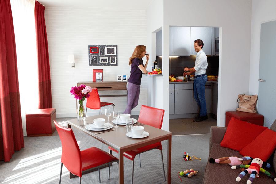 Praktisch eingerichtete Appartments in den Accor Hotels