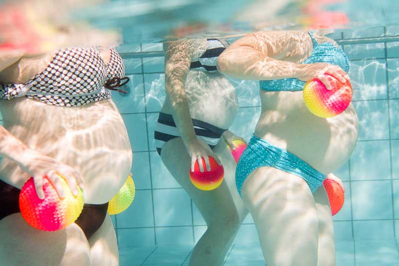 Aqua Fitness ist besonders in der Schwangerschaft gut