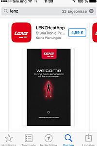 Startbildschirm der Lenz-Heat-App; Bildquelle: Fa. Lenz