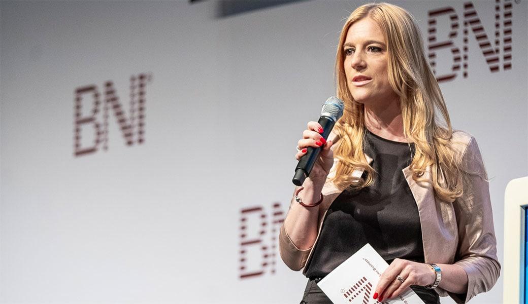Danja Vogel bei der BNI DACH-Konferenz in München