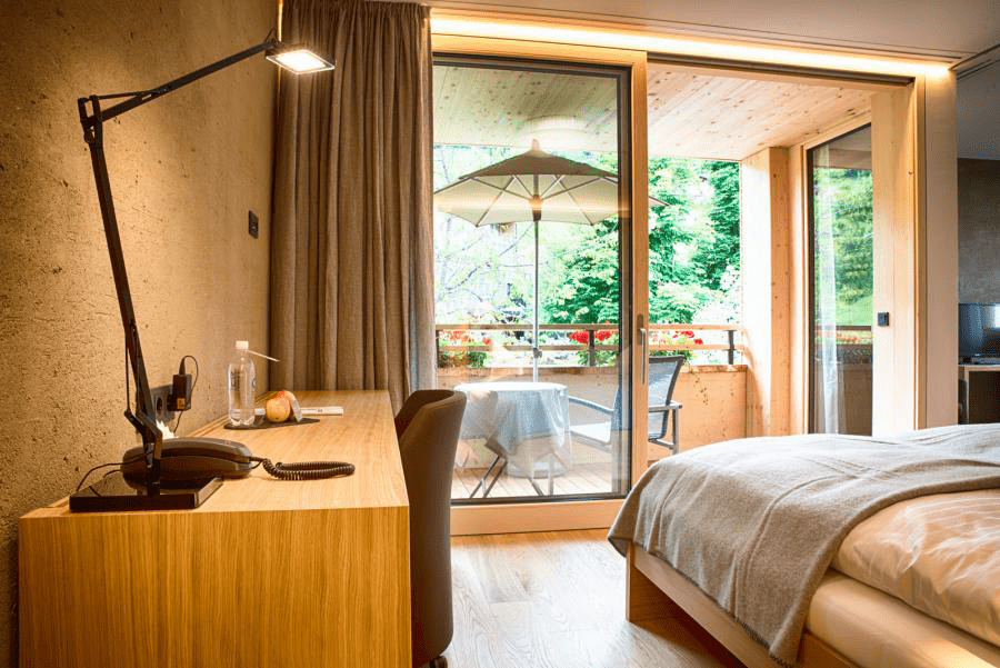 Zimmer im Naturhotel Chesa Valisa
