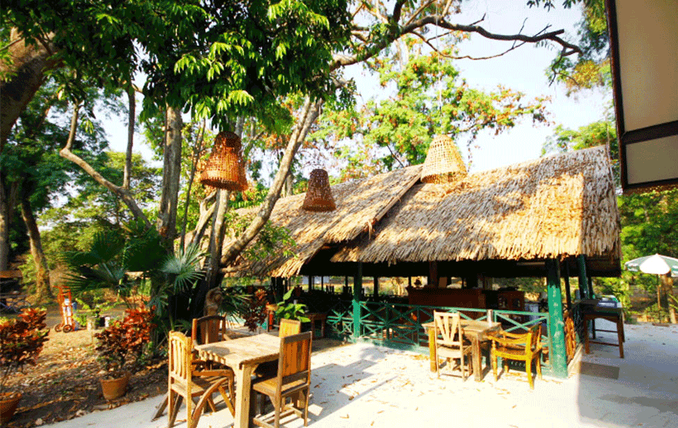 Restaurant der Lodge