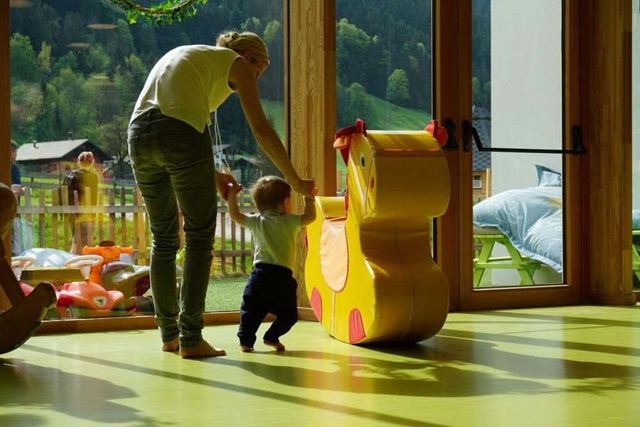 Schön gestalteter Spielbereich für die Kleinen