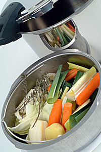 Dampfgaren ist eine gesunde Zubereitungsvariante; Bildquelle: Fotolia - morane