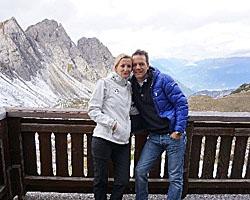 Heike und ihr Mann beim Wandern © Heike Wallner