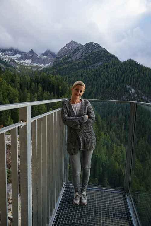 Heike in der Dolomitenhütte © Heike Wallner