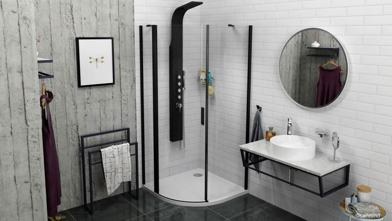 Farbige Duscharmaturen sind im Trend.