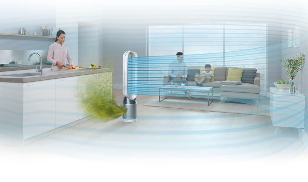 Der Dyson Pure Cool reinigt und kühlt die Luft gleichzeitig.