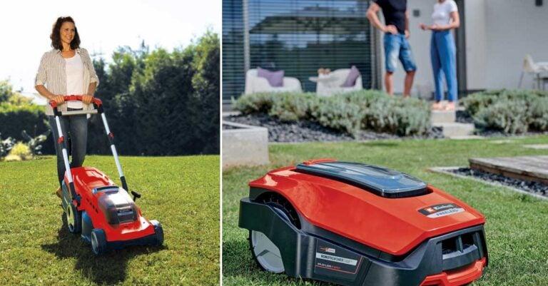 Akku-Rasenmäher und Rasenmähroboter von Einhell im Test
