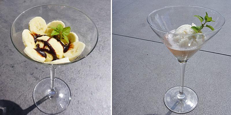 Herrliche Eiskreationen hergestellt mit Eismaschine Emma © Heike Wallner