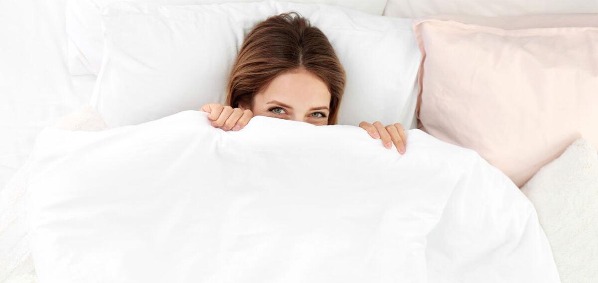 Lange schlafen - genau das Richtige für Entspannung am Wochenende.