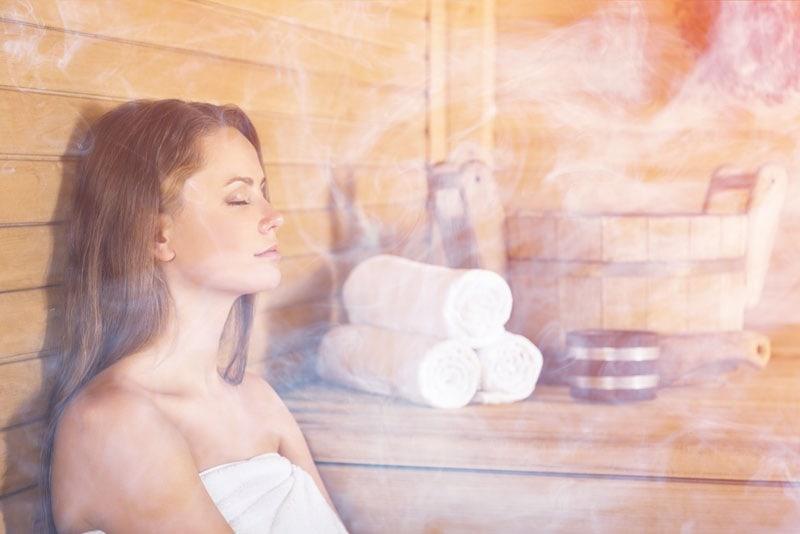 In der Sauna erlebst du Entspannung pur.