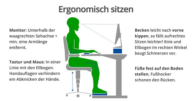 Tipps für einen ergonomischen Arbeitsplatz, um Nackenverspannungen vorzubeugen