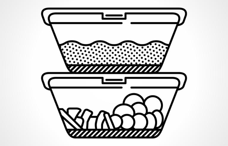 Gesunde Snacks in der Box