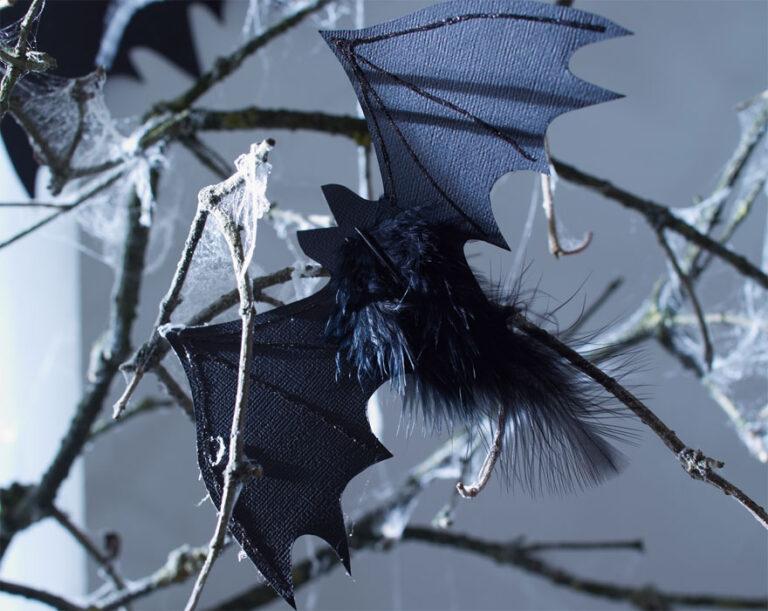 Halloween Glitzer-Fledermäuse