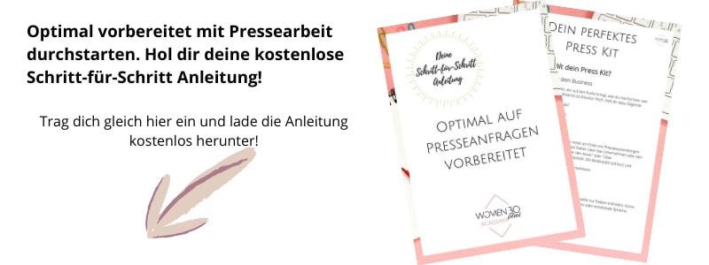Hol dir deine kostenlose Anleitung für die perfekten Presseunterlagen