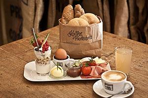 Alle möglichen Frühstückvariationen gibt es in der Kaffeewerkstatt