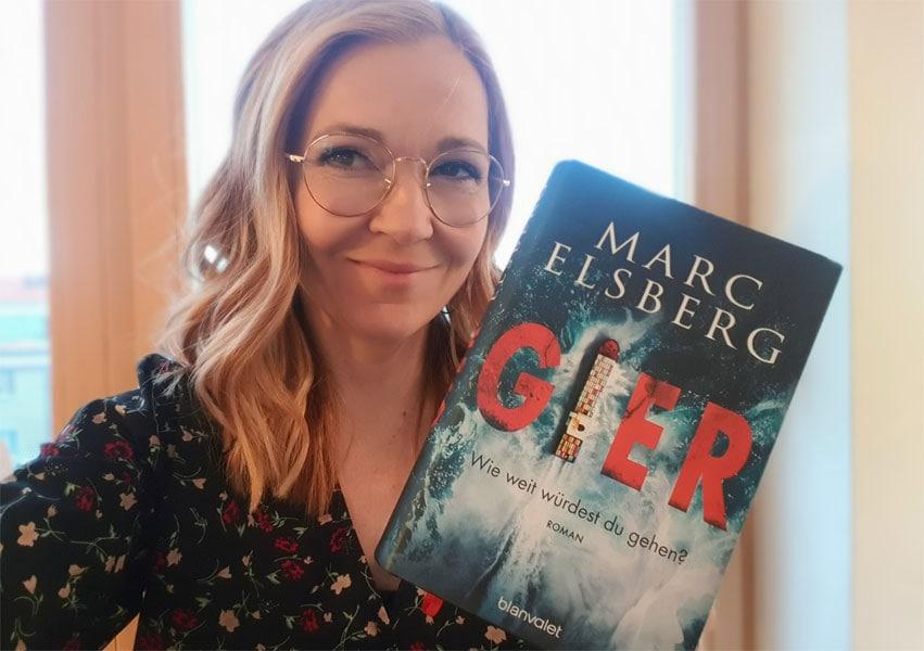 Susanne hat gierig das neue Buch von Marc Elsberg gelesen.