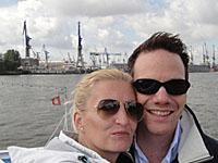 Heike und ihr Mann in Hamburg