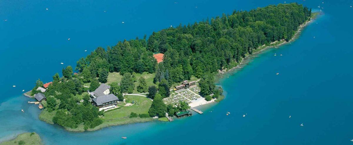 Das Inselhotel mitten im Faaker See