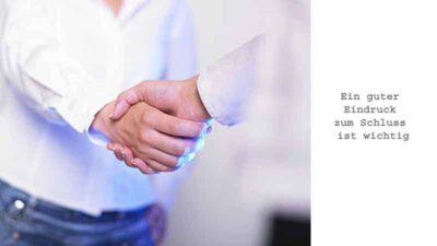 Handshake bei Jobwechsel