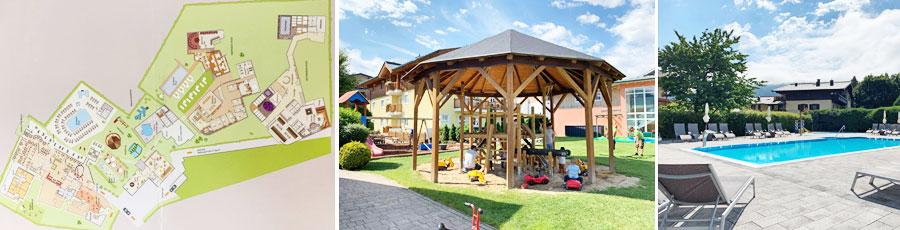 Riesiger Outdoorbereich im Kinderhotel Zell am See © Heike Wallner