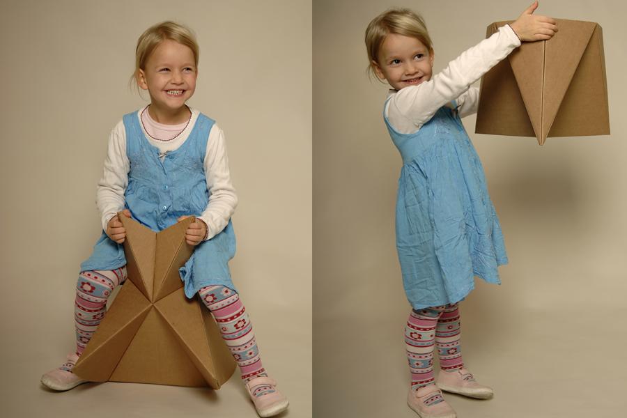 Kinder lieben Kartons und Möbel, die alles mitmachen.