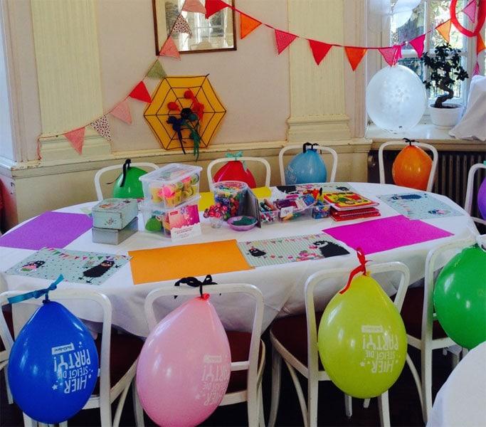 Kindertisch bei einer Hochzeit
