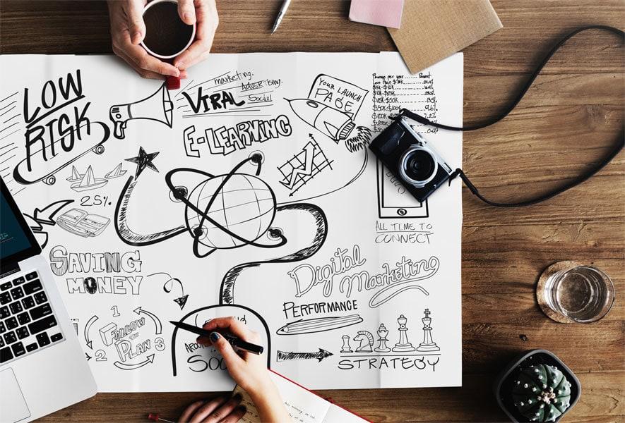 Visualisiere deine Ideen und Gedanken mit Mind Maps.