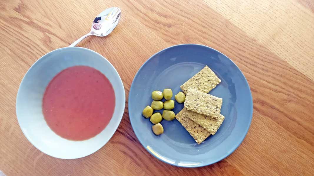 Das Mittagessen an Tag 1 des ProLon Scheinfasten-Programms