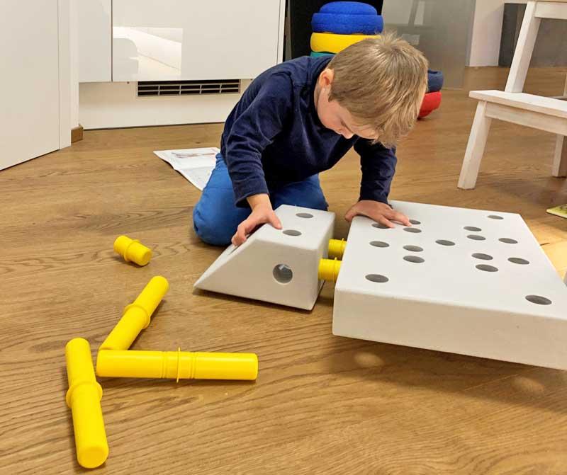 Modu: ideal auch schon für kleine Baumeister © Heike Wallner