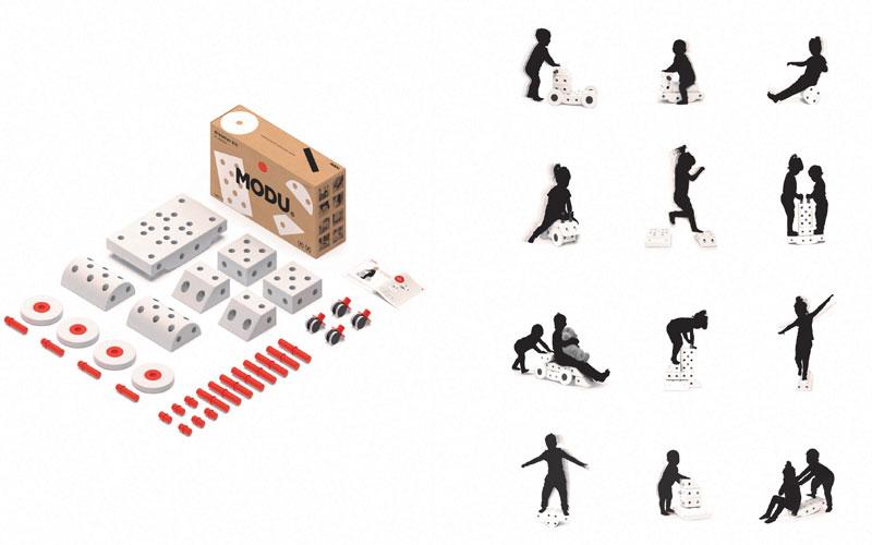 Der Lieferumfang und die Baumöglichkeiten mit dem Dreamer Kit von Modu © Modu