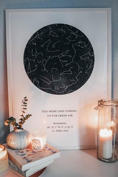 Deine persönliche Sternenkarte von Nachthimmel