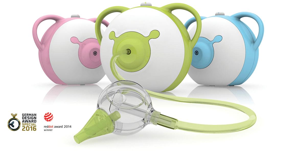 Freie Nase fürs Baby mit dem Nosiboo Nasensauger