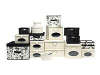 Boxen in unterschiedlichen Größen helfen Ordnung zu halten; Bildquelle: Ikea