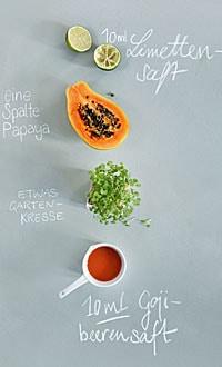 Zutaten Papaya-Drink