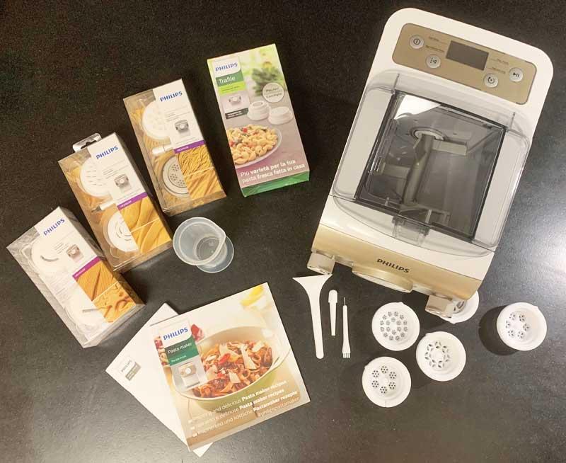 Lieferumfang des Philips Pasta Maker
