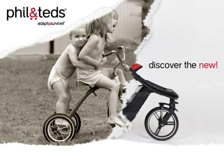 Entdecke die neuen Kinderwägen von phil&teds und durchbreche die Grenzen des Eltern-Alltags