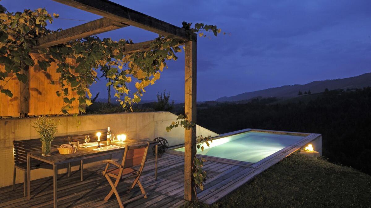 Terrasse und Pool beim Ferienhaus Pures Leben © PuresLeben, Dietmar Solly