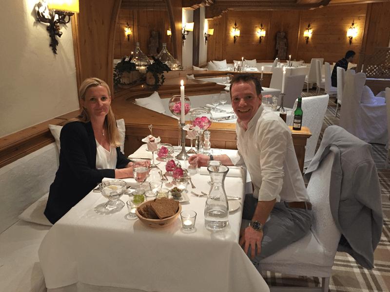 Heike und ihr Mann im Restaurant