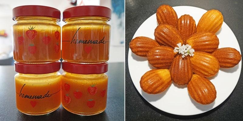 Selbstgemachte Marmelade und Madelaines © Heike Wallner