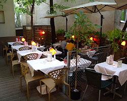 Super Gastgarten im Restaurant ON